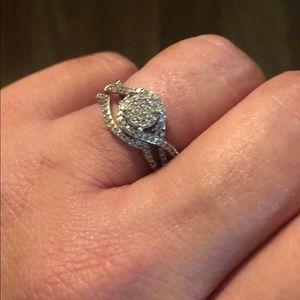 Sterling Silver 1/3 CTW Diamond wedding set